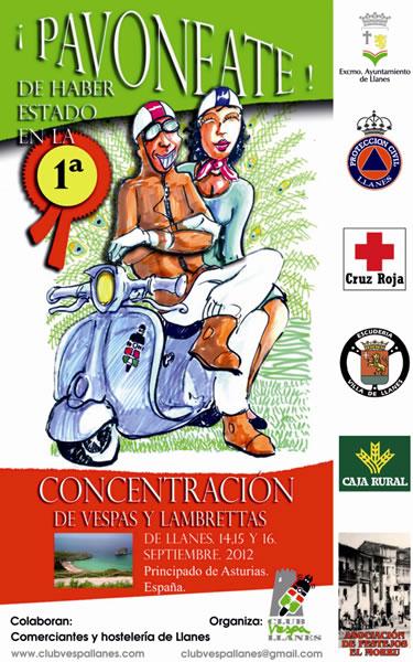 CONCENTRACION VESPAS Y LAMBRETTAS EN LLANES